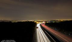 AP7 long exposure (VoLGio) Tags: barcelona espaa car night canon eos lights spain highway nightlights motorway tripod catalonia autopista catalunya carlights province catalua 1022 valles espanya ap7 mollet 40d molletdelvalles