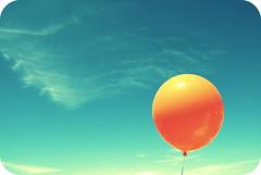 i'm a festival, i'm a parade (sevenworlds16) Tags: blue sky orange clouds lyrics crossprocessed balloon wispy thenational allthewine