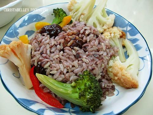 紫金堂香草美人餐D1午紫米棗香飯與義式鮮蔬