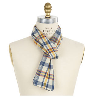 Engineered Garments Madras Plaid Scarf at Barneys New York from barneys.com