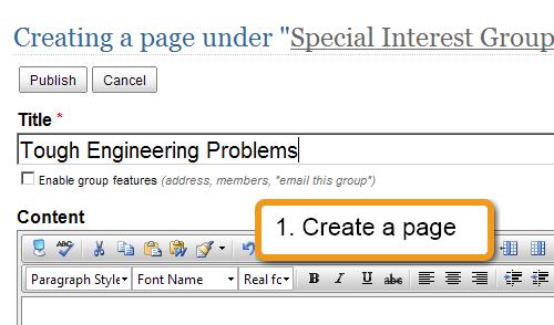 Step 1: Create a page