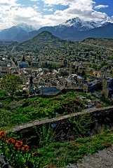 Switzerland, Valais (photoriel) Tags: city urban alps architecture landscape switzerland town spring europe hill shining montain sion valais valre elitephotography flickrlovers vosplusbellesphotos greatshotss