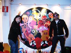Live paint @Rising Love (.krayon) Tags: factory vinyl livepaint jeremyville mondopop risinglove davidvecchiato