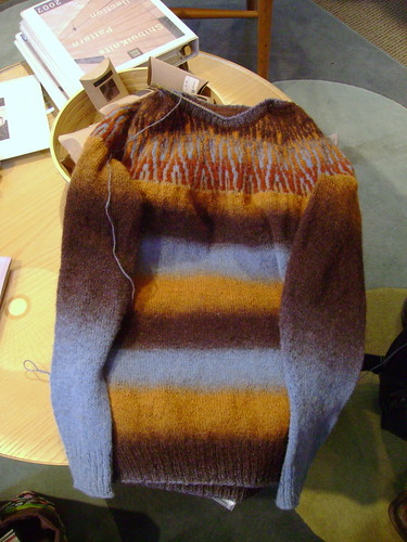 Sweater laid flat