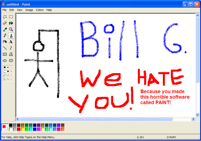 WE HATE BILL GATES