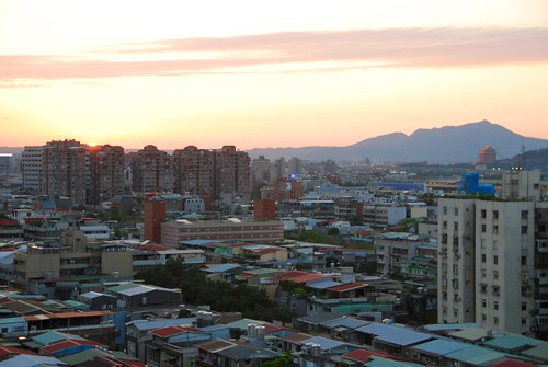 sunset from our apartment, taipei