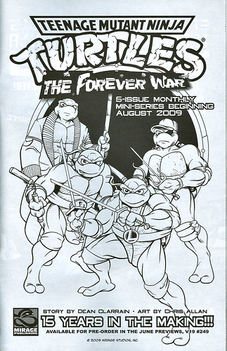 """Teenage Mutant Ninja Turtles"" Volume 1. #1 / 25th anniversary printing  // TMNT Adventures ' Forever War ' - ad (( 2009 ))"