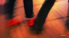 dancing (the patient sergi) Tags: barcelona red blur dance blurry rojo floor dancing bcn patient baile flou ramblas rambles zapatillas bailar borroso thepatient borrisidad