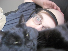 Freya and myself upon the couch