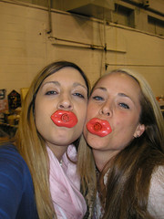 The two Lip Puckers: Me and Julie, Awesome!