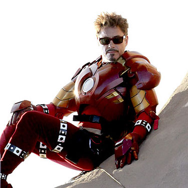 Iron Man 2: Downey dons Iron Man suit