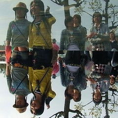 Walking Upside Down -  -  (Ginas Pics) Tags: street girls people woman man color glass girl hat sunglasses fashion japan lady japanese mirror interesting women colorful published upsidedown vivid quad skirt nippon miniskirt nagasaki extraordinary pendant sundaywalk sundayafternoon streetshot invited strolling travelphotography ginaspics nagasakiprefecture reddit explored bypassers japankids nagasakishi nipponbeauty walkingupsidedown icecreaminjapan wwwginaspicsnet grabthesweet reflexionwalk upsidedownwalk kidsinnagasaki reflexiontable