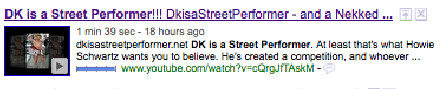 DK is a Street Performer YouTube