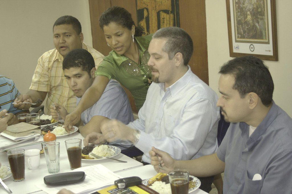Pastor Bustamante enjoys Venezuelan cooking