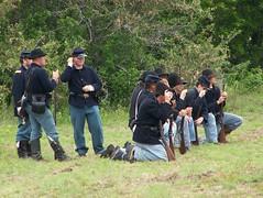 Civil War Reenactment - The Battle of Temple Junction, Temple, Texas (Ancestors of Cornelius Dunham) Tags: temple texas smoke union rifle battle historic confederate civilwar cannon shooting reenactment americanhistory gunfire