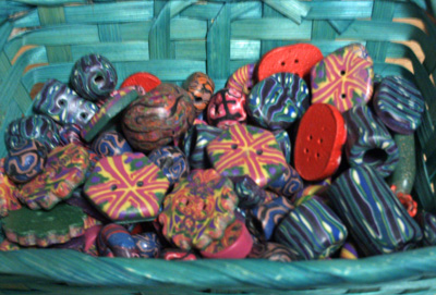 Basket of Beads and Buttons!