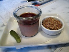 abattoir chophouse - potted chicken livers with foie gras