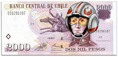 Rebel Pilot (Arkaitse) Tags: money photoshop bill starwars anh dinero credits peso billete clp anewhope episodeiv doslucas manuelrodriguez chileanpeso dosmilpesos geekmoney