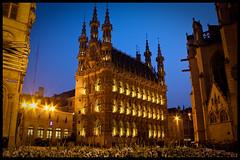 Leuven - Stadhuis (Carlo Vingerling) Tags: leuven lights long exposure nightshot belgium belgie 2009 stadhuis grotemarkt