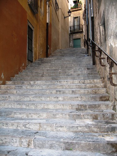 The Stairs of Barri Vell, Girona, Spain - 3