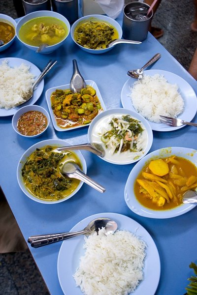 Southern Thai dishes at Ruam Tai, a restaurant in Thonburi