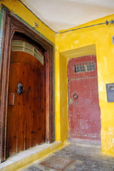 Moroccan Doors (cwgoodroe) Tags: ocean africa street old city sea summer people sun fish bus colors metal ferry plane children cafe sand ancient colorful doors artistic pentax vibrant muslim poor streetlife mosque arabic panasonic doorway morocco arab friendly moors conservative script casbah vegtable merchants continent merchant christians tangier monger moroccan tanger kasbah cleric sadfaces metaldoors fishmerchant casba casbha dailylifeportrait