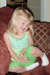 pretty girl in green