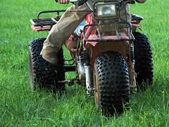 kick start (frankieleon) Tags: boy atc honda interestingness interesting bestof mud country tires cc riding creativecommons atv popular kickstart threewheeler frankieleon
