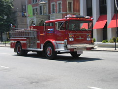 Newark Fire Dept Muster Parade 2009 1960's American LaFrance Pioneer (Clemco/GTI) Tags: june truck fire nj engine 7 alf parade american dodge ladder newark gti pioneer 2009 muster dept lafrance kearny eone clemco clemcogti