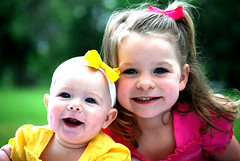(KMed Photo) Tags: pink people nature girl yellow sisters portraits children utah babies parks closeups bows childrenphotographer