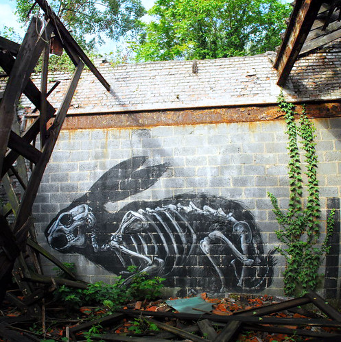 Roa urbex graffiti - Photo by KrieBeL