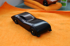 2009 Pinewood Derby Car #1 (Step 22, back from the dead) (cdubya1971) Tags: wood columbus ohio car race racecar paint boyscouts gravity howto 2009 cubscouts bsa stepbystep pinewoodderby csca pinecar woodcar pinewoodderbycar carpocalypse pinewoodderbycardesign
