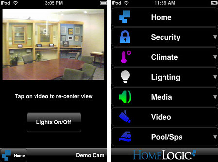 HomeLogic Mobile Control App