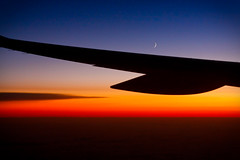 Fly me to the moon (Villi.Ingi) Tags: voyage above travel blue sunset red sky moon abstract plane canon airplane fly flying view flight wing traveling giap slóvenía 40d giap040710 gettyvacation2010
