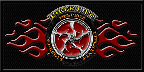Biker Life Logo on black