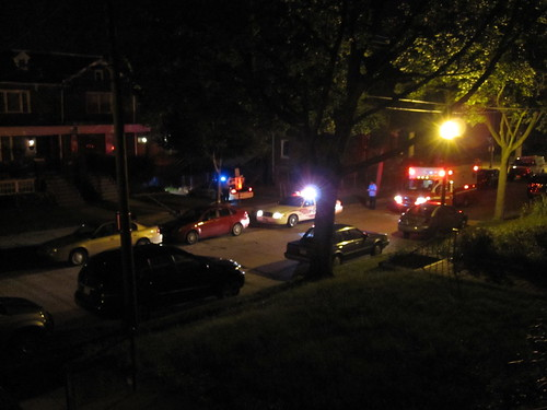 Shortly after shooting, victim in ambulance