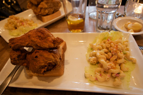 Nashville-style spicy fried chicken at Bed-Stuy's Peaches Hothouse