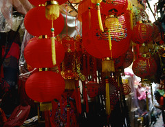 Red Lanterns... Chinatown - Bangkok (vincenzooli) Tags: thailand chinatown bangkok kodachrome lpbright