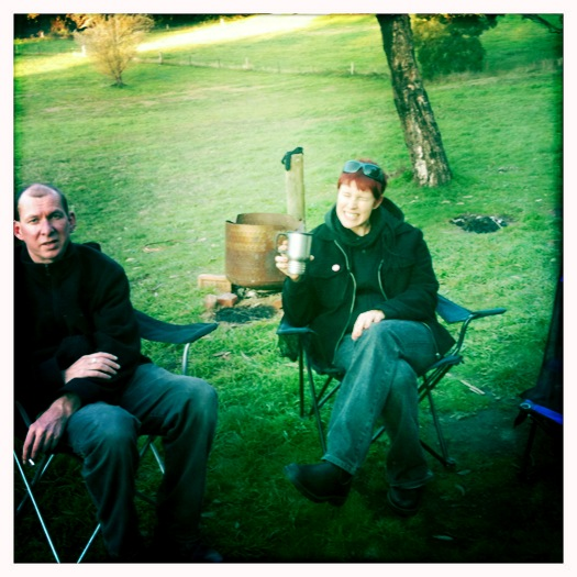 Kicking back camping