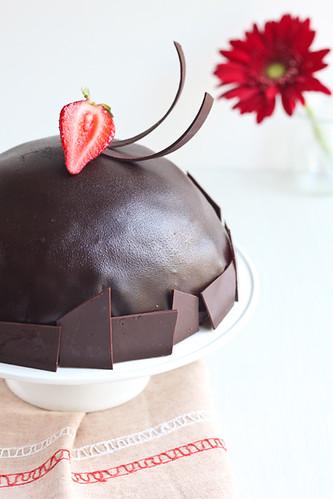 Pastís mousse de coco i xocolataa