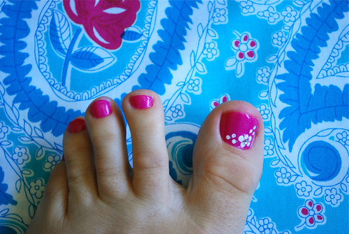 Your pedicure should always match your fabric