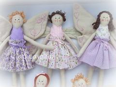 loira, morena, cachos... (AP.CAVALARI / ANA PAULA) Tags: bonecas fairy patchwork fadas dolss anjinhas anapaulacavalari apcavalari