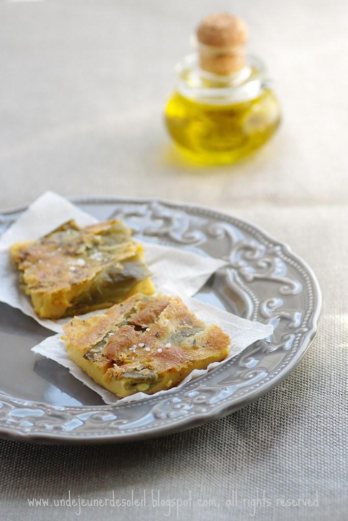 Farinata aux pois gourmands