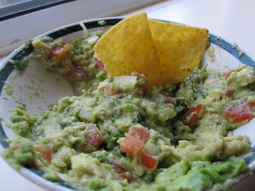 Homemade Guacamole with Dill
