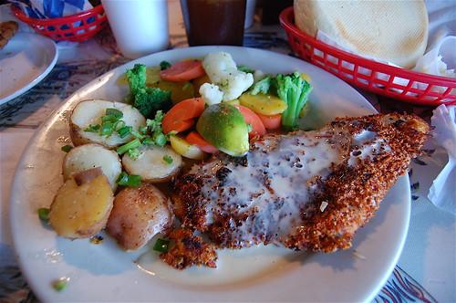 flounder dish