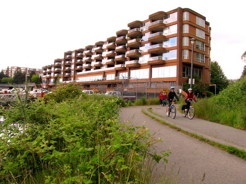 Part of the Squamish Nation Burrad land development will go behind this condos building