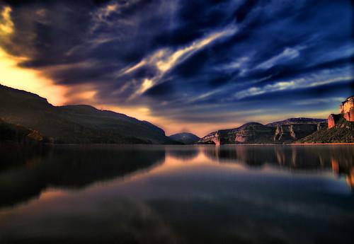 フリー写真素材, 自然・風景, 湖・池, 夕日・夕焼け・日没, スペイン,