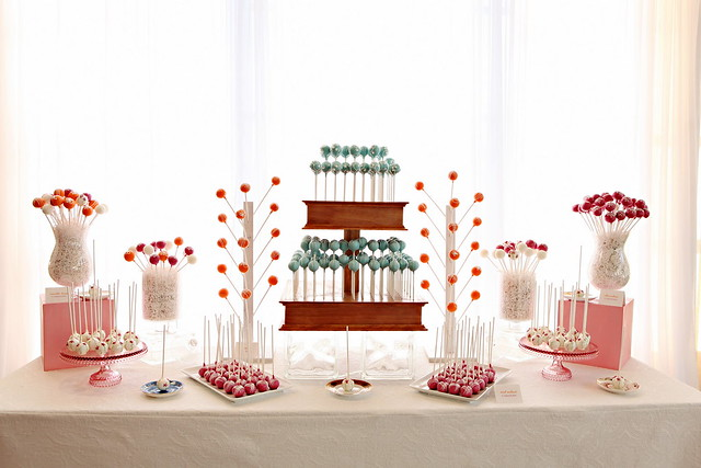 Cake Pop Dessert Display for Weddings
