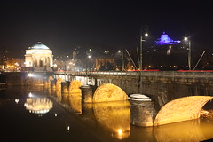 Gran Madre (Boccalupo) Tags: bridge night river torino fiume ponte piemonte po pont turin nuit piedmont notte fleuve granmadre pietmont