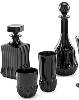 pieces noir barware